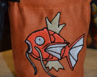 Dice Bag Pokemon Magikarp Embroidered suede