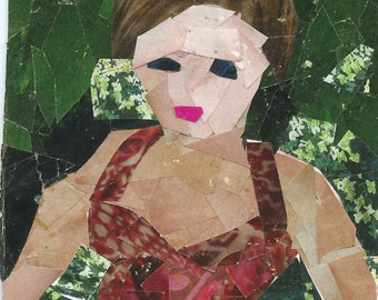 Original ACEO Collage- In the Garden