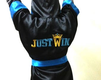 Custom made little fighter outfit boxing trunks boxing robe Kids boxing Fighter set Boys ULTIMATE Fighter Baby Custom Boxing personalized