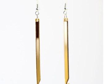 Gold or Silver Mirror Crochet Hook Earrings