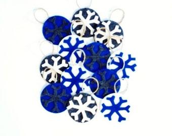 Set of 12 Felt Snowflake Ornaments**Can Use on Jesse Tree**