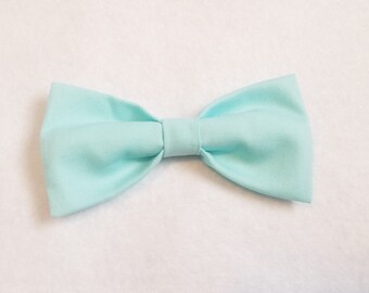 Mint Green 100% Cotton Bow for kids toddler or baby Sizes NB - 7 Yrs