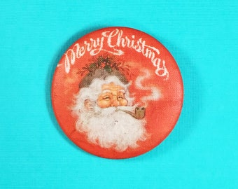 Merry Christmas Pin Back Button