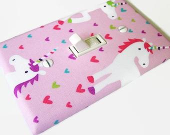 PASTEL UNICORNS Light Switch Cover Plate Switchplate Nursery Decor Unicorn Decor Fantasy Decor