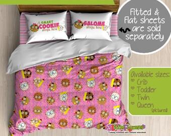 Smart Cookies Custom Comforter/Duvet - Girl Comforter - Girl Duvet - Customized Children Bedding - Kids Pillowcase - Cookies Bedroom Decor