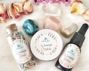 Womens Potion, herbal blend and Crystal pack