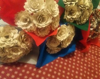 6 x catherine cookson paper rose bouquet
