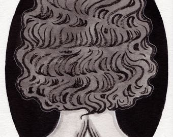 Naira - Original Art - Pop Surrealism Third Eye Witchy Girl
