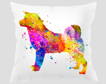 Watercolor Akita Throw Pillow, Watercolor Akita Pillow, Pillow Cover, Accent Pillow, Nursery Decor