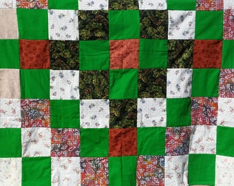 Irish Spring Flannel Rag Quilt