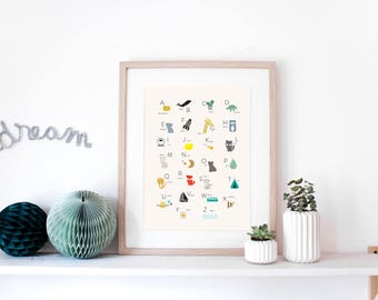 ABC poster - illustration with alphabet letters