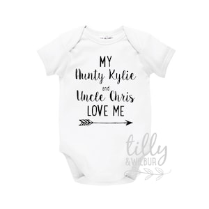 Aunty etsy my aunty and uncle love me baby bodysuit for new arrival nieces and nephews newborn negle Images