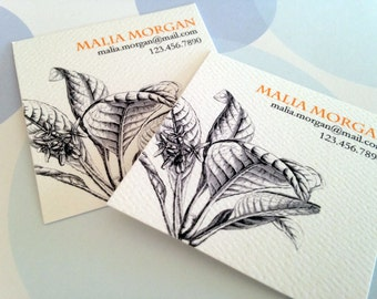 Personalized Business Cards, Calling Cards - Set of 48