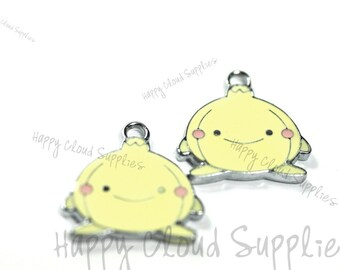 Happy Onion Enamel Charms... 4pcs