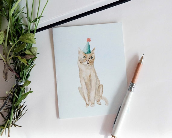 Greeting Card: Party Cat I