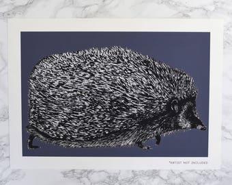 Limited Edition Hedgehog Art Print - hedgehog print - hedgehog art - hedgehog drawing - hedgehog picture - hedgehog gift - woodland