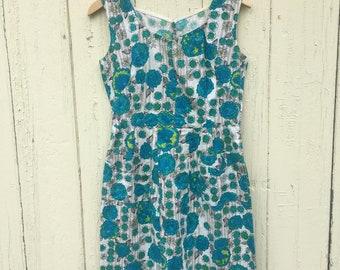 Blue Flower power vintage dress