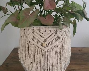 Macrame Pot Plant Hanger Cuff