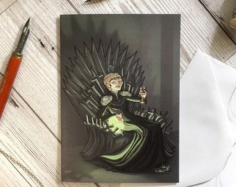 Wildfire card, A6 size, Cersei Lannister, Game of Thrones card, birthday card, friend card, GoT card, sister card, Lannister