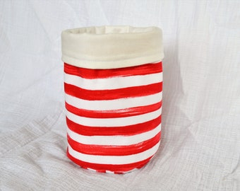 Fabric storage basket, storage bin
