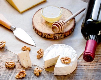 """Cheese Board Size """"XL"""" Birch Wood Coasters Slice Wedding Decoration Rustic Placemats Home Decoration Centre Piece Handmade Log Slice"""