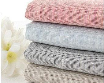 Summer Spring Linen Fabric, Yarn Dyed DIY Cloth Art Manual Cloth -Pure linen Cloth 55x18 Inches (G26)