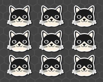 Cute Cat Stickers, Kitty Planner Stickers, Kitten Planner Stickers, Pet Planner Stickers, Cat Stickers, Cute Kitty, Cat, Pet, IWP - PTC002