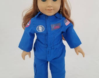 Space Flight Suit for 18 inch Doll like American Girl Dolls