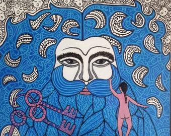 blue beard tale BIG56 free figuration