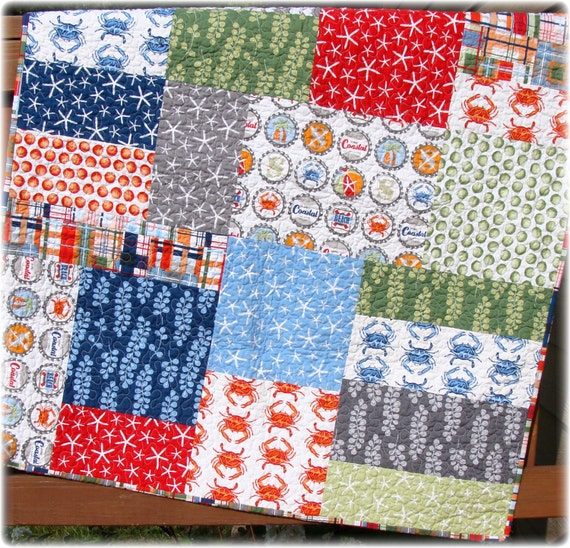PDF Quilt Pattern Seaworthy Modern Big Block Quilt pattern : big block baby quilt patterns - Adamdwight.com