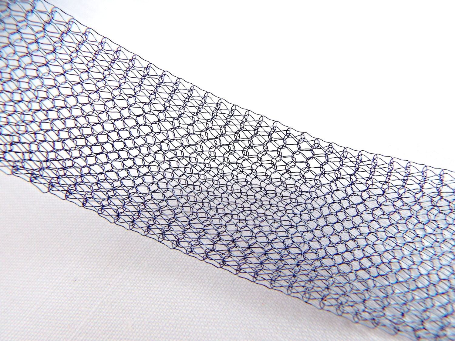 Blue Wire Mesh, Knitted Wire, Blue Artistic Wire, Colored Copper ...