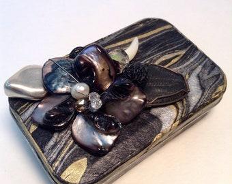 Vintage Jeweled Altered Altoid Tin