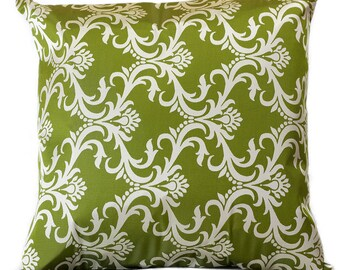 "Damask Throw Pillow Covers, 18"" X 18"", Set of 2"