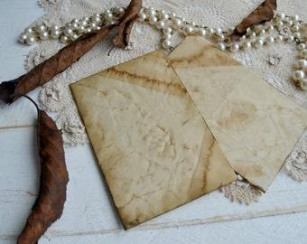 10 Tea stained envelopes junk journal envelopes wedding favour gift envelopes vintage paper envelopes .