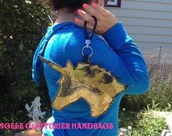 Unicorn purse glitter unicorn wristlet coin purse unicorn silhouette
