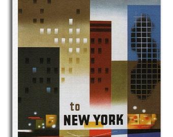 Art New York Travel Poster Wall Decor Print Gift  xr550