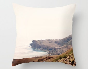 Art Throw Pillow Cover Crete Cove 2 photography photo photograph home decor earth tones minimalist Sea brown ethereal light