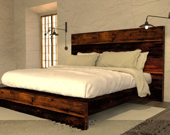 Reclaimed wood bed | Etsy