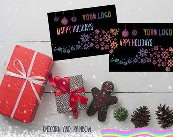 "LLRHappy Holidays Postcard- Digital file- 5x7""- Instant Download"