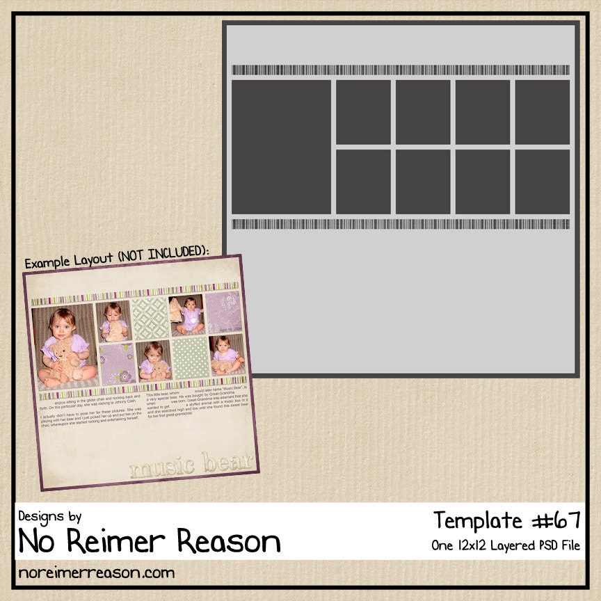 12x12 digital scrapbooking template 67 zoom pronofoot35fo Gallery