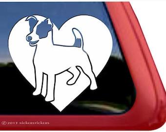 Jack Russell Terrier Heart   DC862HRT   High Quality Adhesive Vinyl Window Decal Sticker