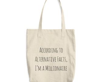 Sac cabas faits alternative, Trump drôle parodie fourre-tout, sac drôle, typographie Tote Bag, politique fourre-tout, Anti Trump Tote Bag, citation de sac