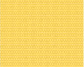 Lady Bugs Dots Yellow, 1 yard cut, Riley Blake Designs.