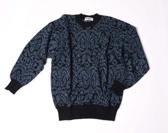 MISSONI uomo vintage 90s pull jumper sweater knit - 100% wool - made in italy