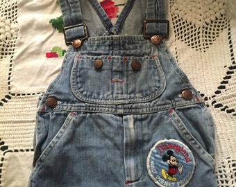 Vintage 70s Big Mac JCPenney toddler kids size 3 overall with Disneyland patch free shipping