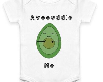 Avocuddle Me Organic Cotton Avocado Onesie