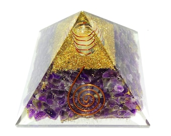 Amethyst Orgone Pyramid by WholesaleGemShop with Free Shipping