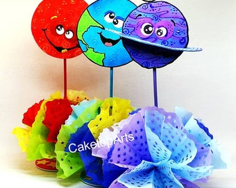 Astronaut birthday, Outer space party, Space party, solar system party, Astronaut Party, Planets birthday, Blast Off,  Set of 6 planets
