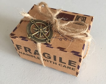 Vintage Wedding Favour Box, Kraft Paper Gift Box, Retro Party Favour Box, Packaging Supplies, Gift Wrapping, Rectangular Gift Box