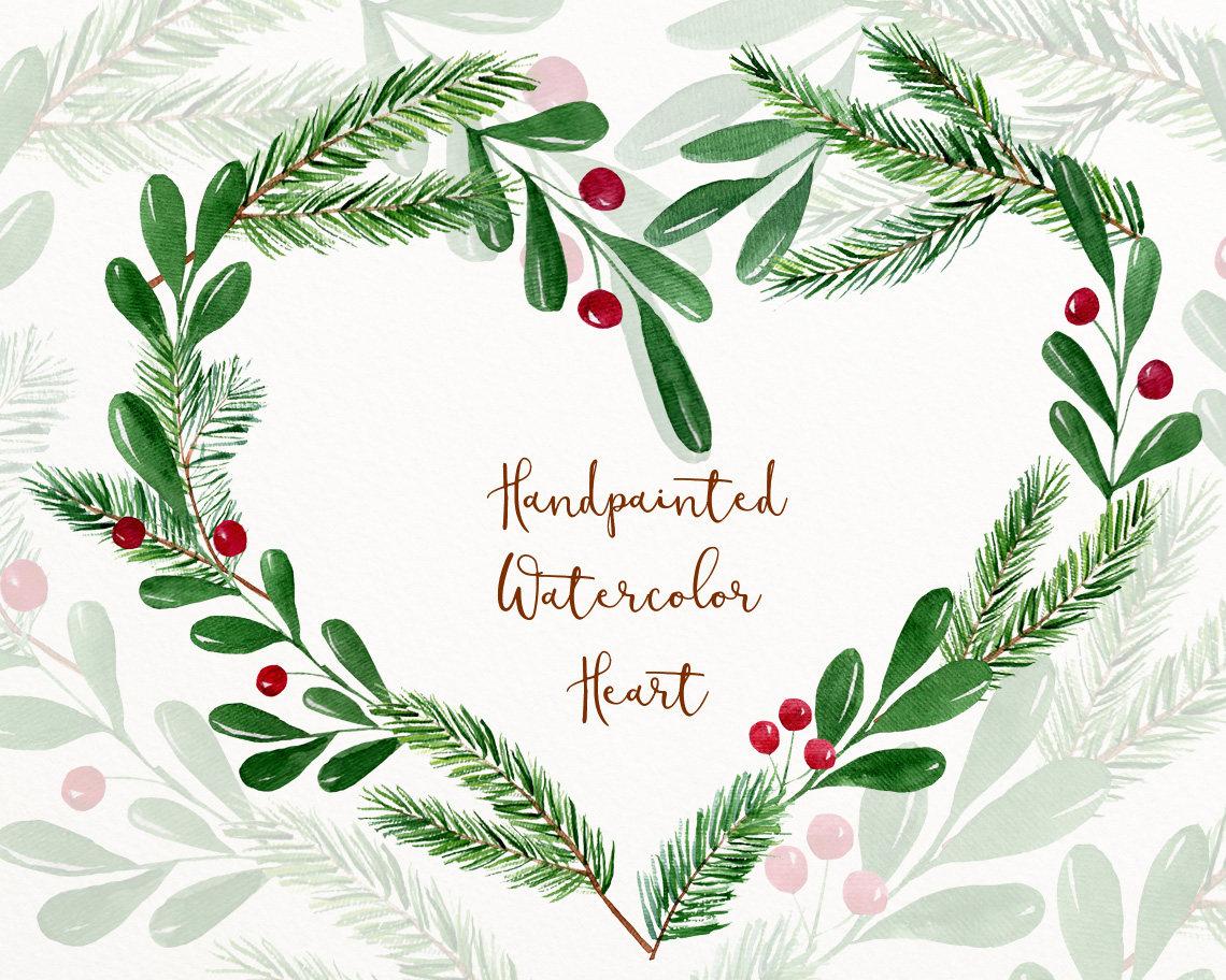 Winter Aquarell Clipart Winter-ClipArt Weihnachten
